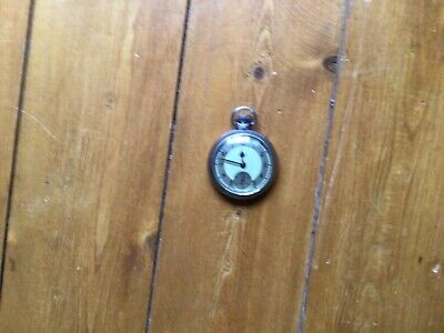 Smiths Empire Pocket Watch Grey Dial Chrome Case Good Working Order