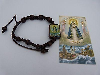 Our Lady Of Charity Wood Bracelet  Adjustable   Pulsera De La Virgen De La Carid