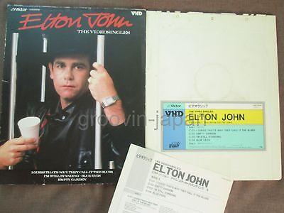 ELTON JOHN The VideoSingles JAPAN-ONLY VHD w/Slip Case+Insert VHM39008 Free S&H