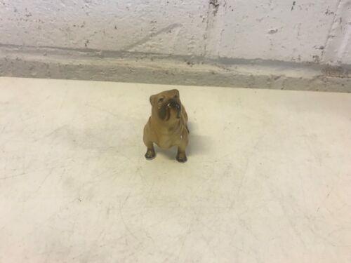 Vintage Shar Pei Dog Figurine Ceramic Brown Standing