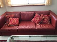 Red Leather Couch Set Wandi Kwinana Area Preview