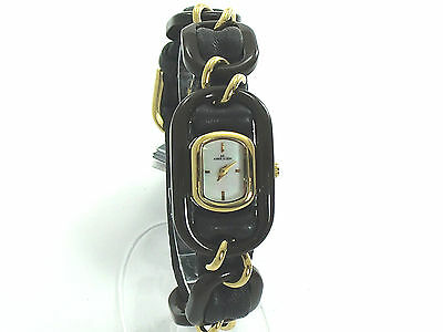 ANNE KLEIN WOMEN SYNTHETIC MOTHER OF PEARL DIAL DRESSY WATCH 10/8378MPBK SRP $75