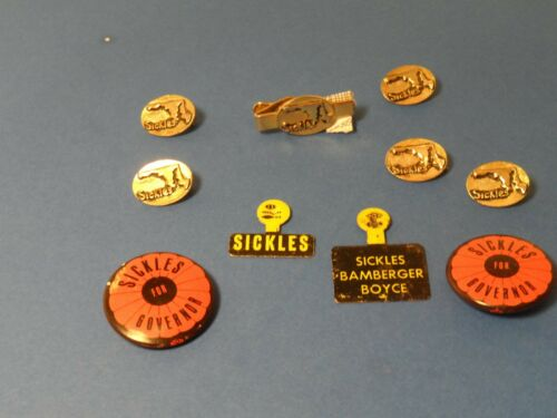 SICKLES  Political Campaign Pin - buttons - pinback