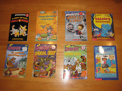 Lot of 8 Children's Pic Books Halloween/Ghost stories Scooby-Doo!, Little - Children's Halloween Story