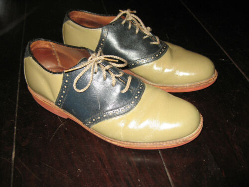 Vintage Two tone Rockabilly Saddle Shoes Green and Blue 10 (?) No Size Tag
