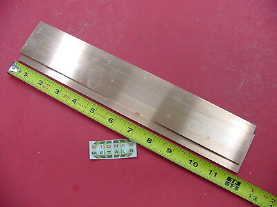2 Pieces 18 X 2 C110 Copper Bar 12 Long Solid Flat Mill Bus Bar Stock H02