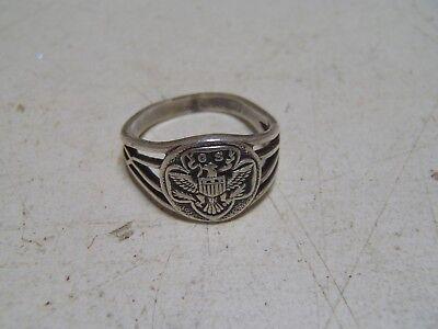 Vintage Girl Scout Sterling Silver Ring Size 5 Marked OB Eagle Emblem  for sale  Cleveland