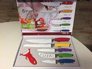 Scheffler 6 tlg. Messerset bunt Küchenmesser