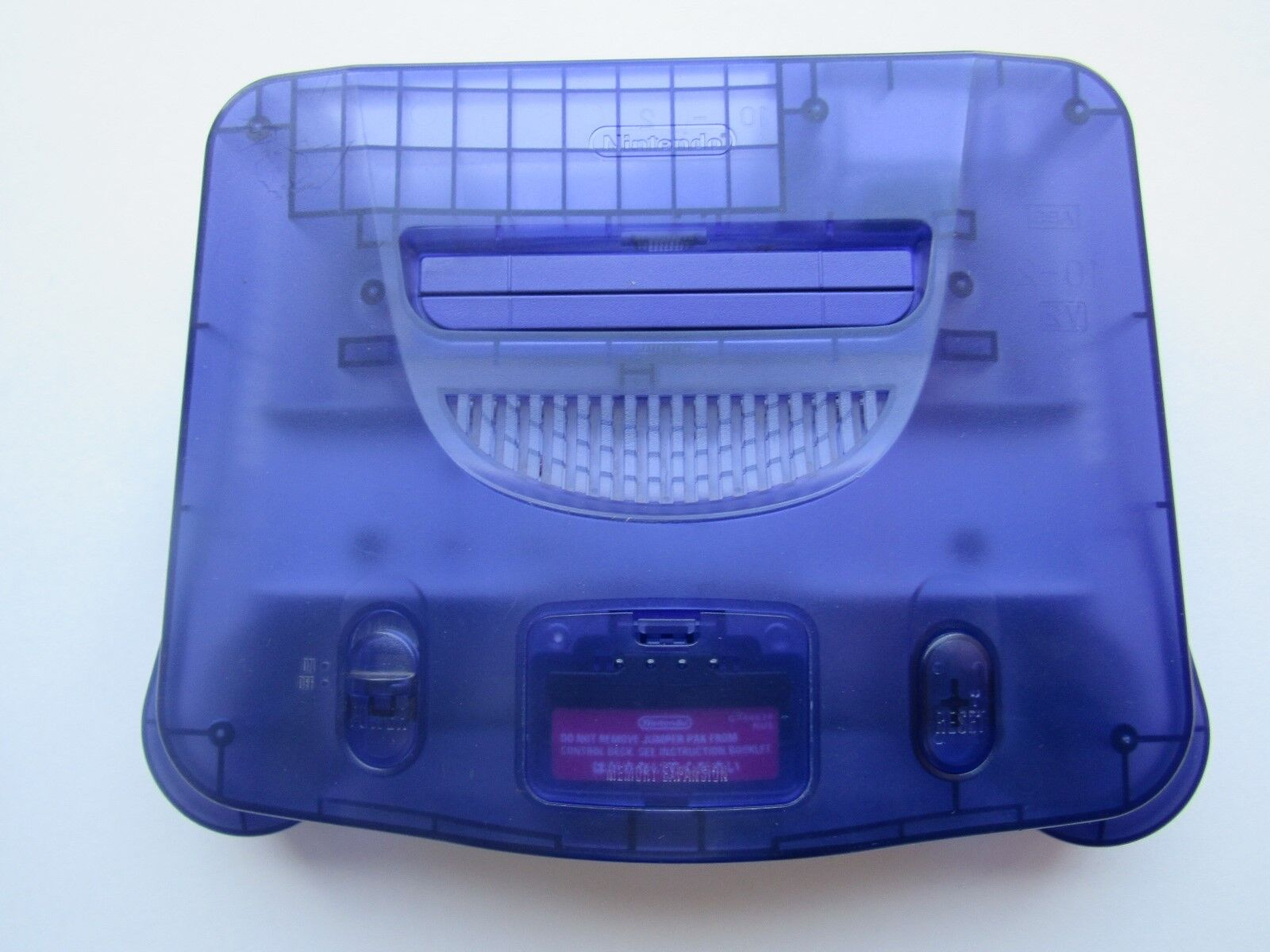 *GOOD* Nintendo 64 N64 OEM Video Game Console System Funtastic Pokemon Gold Rare Grape Purple *Console & Jumper Pack