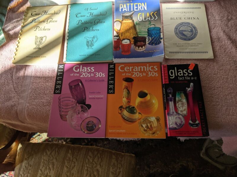 Lot of 6 + 1 Pamphlet Antique Reference Books