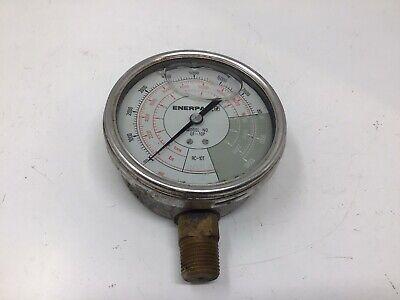 Enerpac Gf835p Hydraulic Pressure Gauge 2550 Ton Cylinders 10000psi 34 Npt