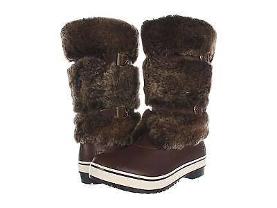 UGG AUSTRALIA WOMENS LILYAN SNOW BOOTS WATERPROOF LEATHER FUR BROWN SZ 8 FITS 7 for sale  Shipping to Ireland