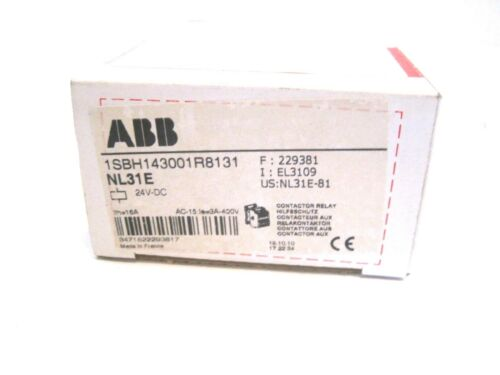 NEW ABB 1SBH143001R8131 CONTACTOR NL31E