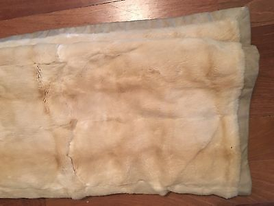 SALE! LORO PIANA Beige Rabbit Fur And Cashmere Blanket Thrown With Suede Trim!, used for sale  Chicago
