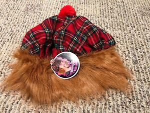 SEE YOU JIMMY SCOTTISH HAT WITH FAUX HAIR