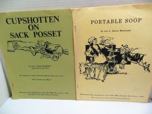 French and Indian F&I War Article REPRINTS Cupshotten Sack Posset Portable Soop