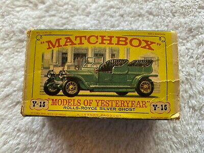 MATCHBOX MODELS OF YESTERYEAR ROLLS ROYCE SILVER GHOST Silver-Green  Y-15 No. 15