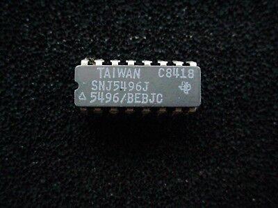 Snj5496j 5 Bit Shift Register 16 Pin Ceramic Dip New Nos Snj 5496 Genuine
