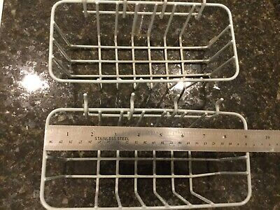 Lot Of 2 Durable Pegboard Organizer Wire Basket Rust Resistant Vinyl Coating F52