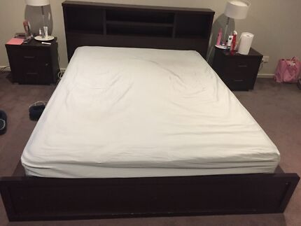 Queen size bed base with bed head Bentleigh East Glen Eira Area Preview