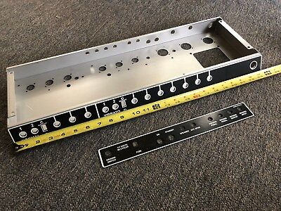 Super Reverb-style Amp Chassis with finished blackface faceplates