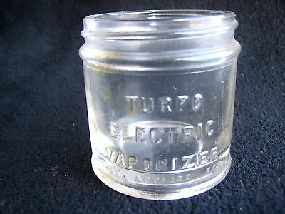 Rare  Turpo Electric Vaporizer Clear Jar Humidifier Medical Rx Apothecary Vtg