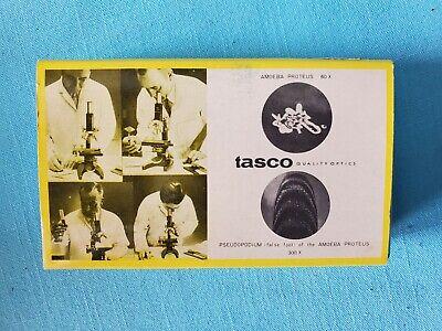 Vintage Tasco Microscope Prepared Slide Set Of 12  Used  1960s