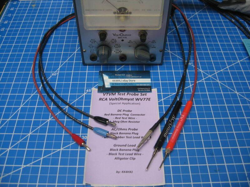 Custom VTVM Probe Set - Assembled - for RCA Voltohmyst WV77E