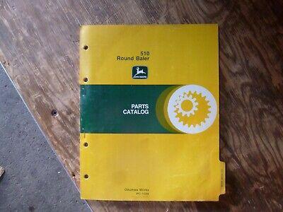 John Deere 510 Round Baler Parts Catalog Manual Book Original Pc-1599