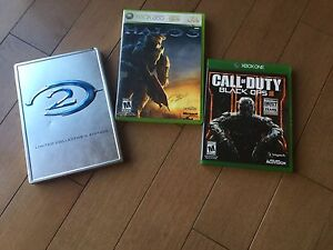 Halo 2, halo 3, call of duty black ops 3