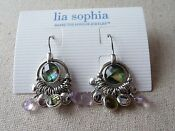 Lia Sophia Purple Earrings