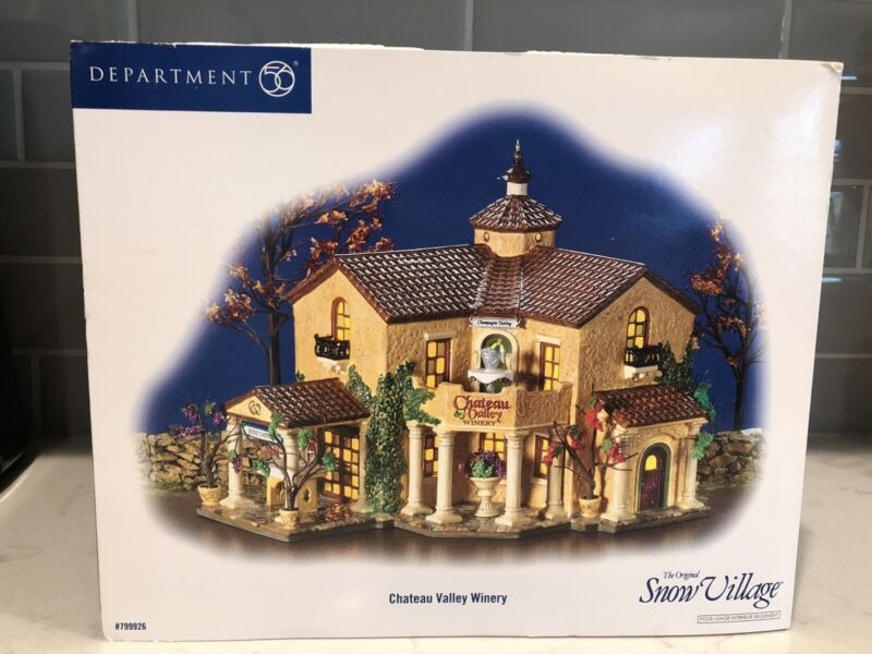 Dept 56 Snow Village Chateau Valley Winery Lighted Building W/ Orig Box