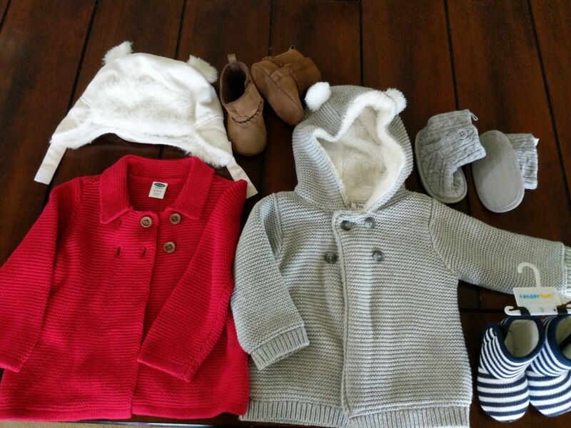 Baby Girl Clothes 9-12 Months Winter Lot