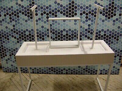 White T- Bar Purse Handbag Retail Store Fixture Merchandise Display Table