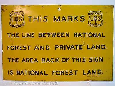 Early 1900s US Forest Service Dept of Agri embossed Sign Elwood Myers Sprgf Ohio