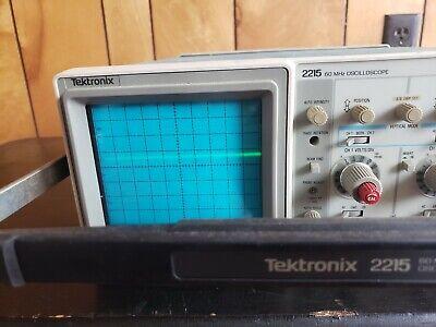 Tektronix 2215a 60mhz Oscilloscope. Works