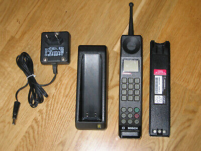 MOTOROLA International 3200 BOSCH Cartel S2G1 Vintage brick phone Complete Set