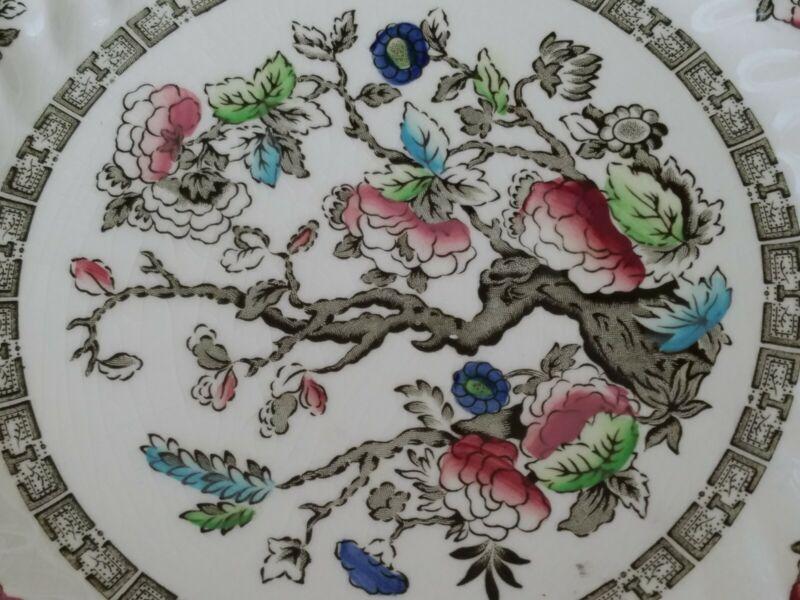 "Set of 4 ☆Myott Staffordshire ☆ INDIAN TREE ☆ 10"" Dinner Plates ☆  ☆ England"