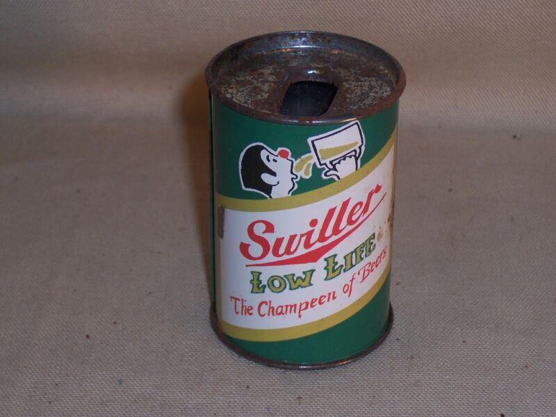 """Vintage Gag """"Swiller Low Life - The Champeen of Beers"""" Bic Lighter Holder L@@K"""