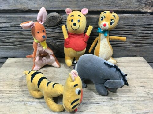 Vintage 1960s  Walt Disney Gund Winnie the Pooh Lot