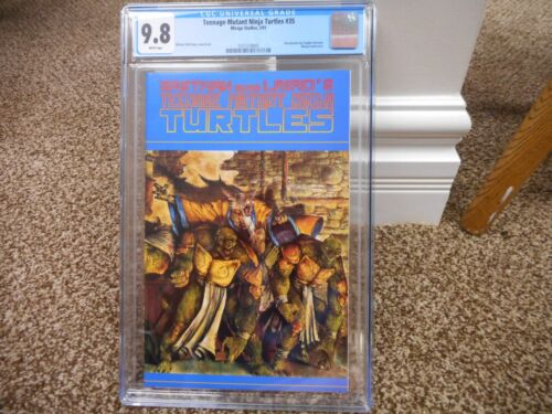 Teenage Mutant Ninja Turtles 35 cgc 9.8 Mirage 1991 WHITE pgs MINT movie TV TMNT