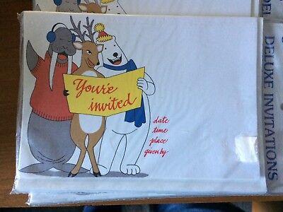 Polar Bear Invitations (Christmas Party Invitations