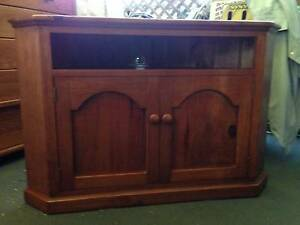 TV/Entertainment Unit - Stained baltic pine, corner piece Cronulla Sutherland Area Preview