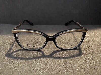 NEW Christian Dior Eyeglasses CD 3280 QXT Black Gold Authentic UV Protection