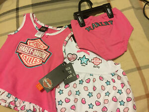 Baby Girl 3 Piece Harley Outfit