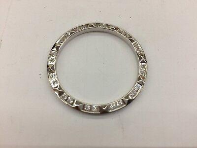 CREATED DIAMOND SAPAHIRE pyramid BEZEL insert ring fits Rolex DATEJUST Men