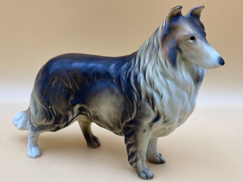 Vintage Enesco Collie Dog Figurine Porcelain, Made in Japan