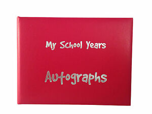 Autograph Book, School Autograph Book, Padded Cover, 6 Colours foil blocked