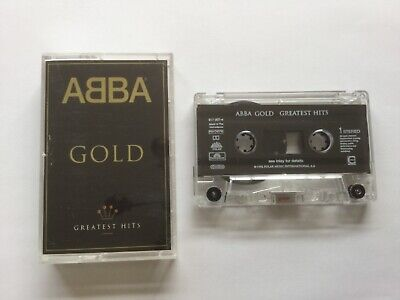 """ABBA """" GOLD """" CASSETTE ALBUM FULLY PLAY TESTED. + 20 PAGE INLAY CARD RARE DUTCH"""