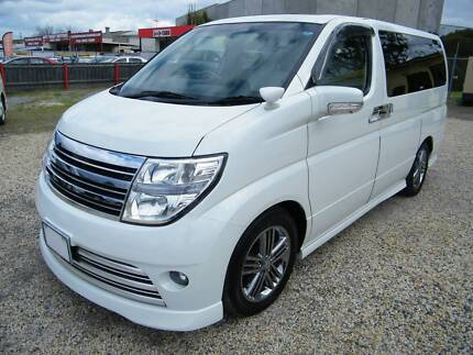 2007 Nissan Elgrand (#3175) V6 3,5L PearlWhite with White Leather Moorabbin Kingston Area Preview